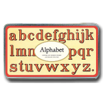 "Grosses Stempel-Set ""Alphabet klein"""