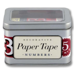 Decorative Paper Tape Numbers