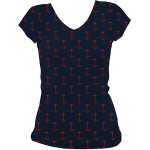 """Rock Steady Women's """"All Over Anchors"""" Tee"""